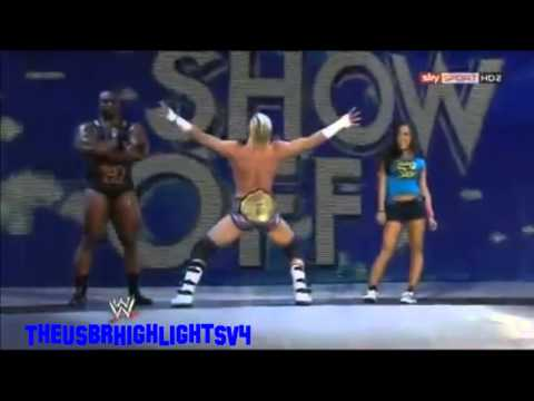 Dolph Ziggler first entrance with World Heavyweight Champion