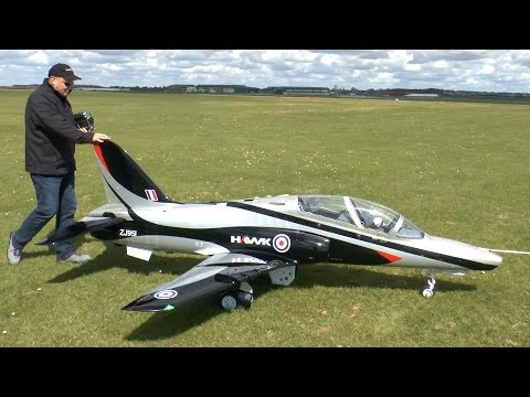 GIANT RADIO CONTROLLED BAe Hawk 100 TURBINE JET