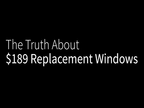 The Truth about $189 Replacement Windows in Richmond, VA
