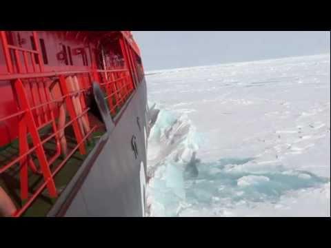 Северный полюс. Ледокол и лёд