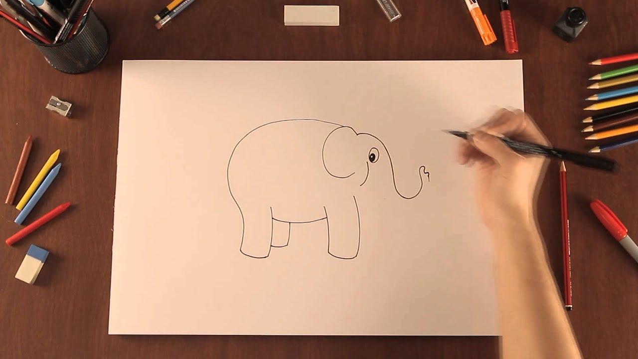 Un elefante: dibujo para colorear e imprimir - conmishijos.com