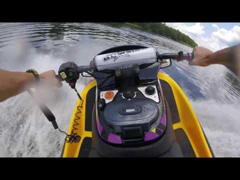 Wide Open Kawasaki ZXi 1100 Jet Ski  /GoPro