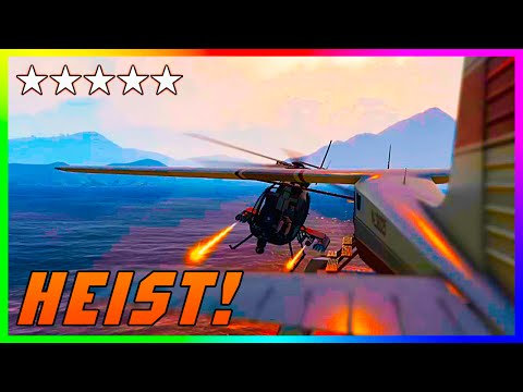 Gta 5 Online 'the Heist Life' - Insane Airplane Escape Heist! (gta V Ps4 Epic Custom Heists) video