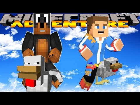 Minecraft - Donut the Dog Adventures -FLYING CHICKEN RACE!!!!