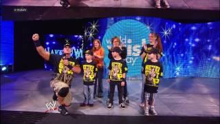 John Cena joins Wish Kids in the arena: Raw, April 29, 2013