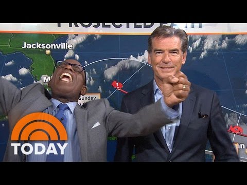 Pierce Brosnan Crashes Al Roker's Weather Forecast | TODAY