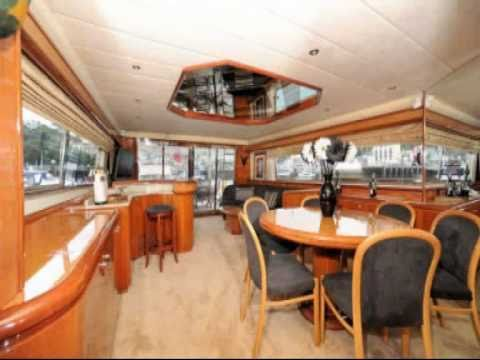 Luxury 80 ft Motor Yacht for Hire Charter. UK Video Promotion