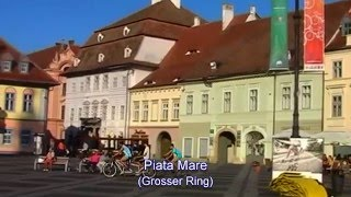 Sibiu (Transylvania) / Hermannstadt (Siebenbürgen) - Stadswandeling (Stadtrundgang), 29-30 juni 2015