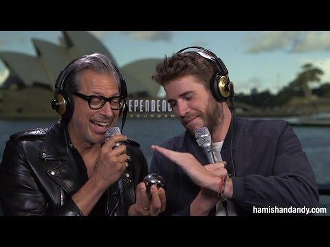 Jeff Goldblum & Liam Hemsworth Take The Power Back
