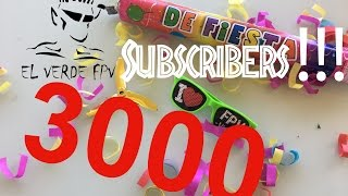 3000 Subscribers!!!!!!! Thank you guys!! With Love El Verde FPV.