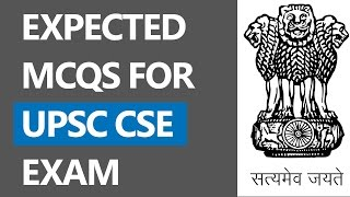 (Hindi) Expected MCQs on Current Affairs for Government Exams (UPSC CSE/IAS Exam)