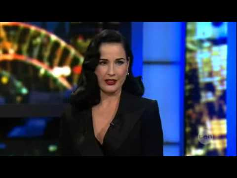 Dita Von Teese on the 7pm Project November