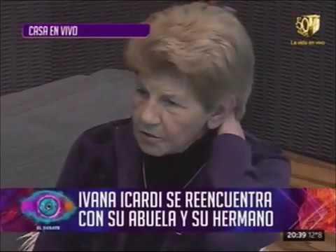 La abuela de Ivana Icardi la visitó en la casa de Gran Hermano y se le fue la lengua