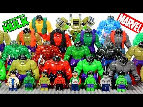 Incredible LEGO Hulk™ Minifigure & Big Figure Complete Collection Marvel Super Heroes