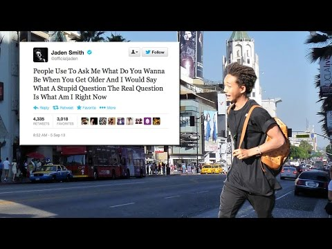 Jaden Smith Tweets In The Street