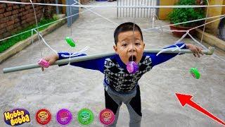 Trò Chơi Vượt Chướng Ngại Vật Ăn Kẹo Huba - Bé Nhím TV - Đồ Chơi Trẻ Em Thiếu Nhi