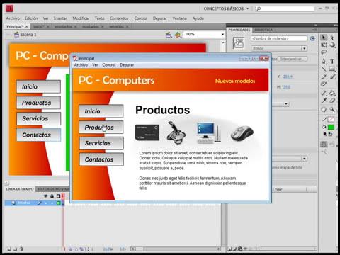 (curso flash cs4) flash-mod5-3Cargar películas externas