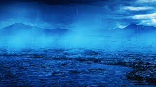 Thunder Rain With Ocean Sounds White Noise For Sleeping Or Studying 10 Hours