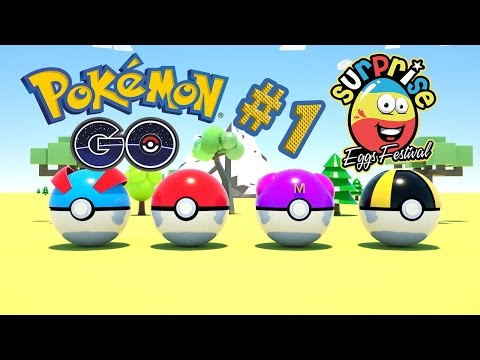 Pokemon Go Surprise Egg Opening #1 - Animation Videos For Kids by SURPRISE EGGS Festival