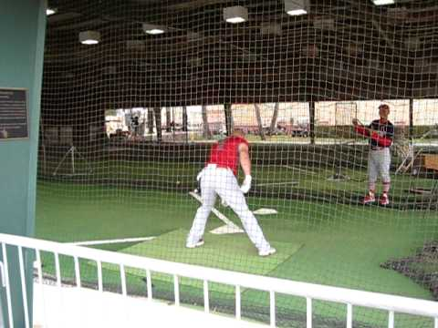Albert Pujols Takes BP