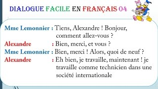 Dialogue facile en français 4