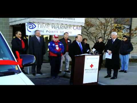 Red Cross/Time Warner Van Donation Joint Press Conference Video