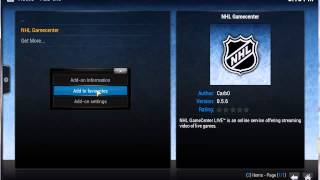 HOW TO: Install and Setup NHL Gamecenter Addon XBMC