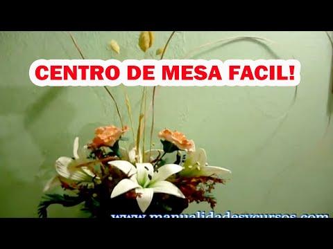Centro de mes paso a paso con flores de foamy goma eva youtube - Flores sencillas de goma eva ...