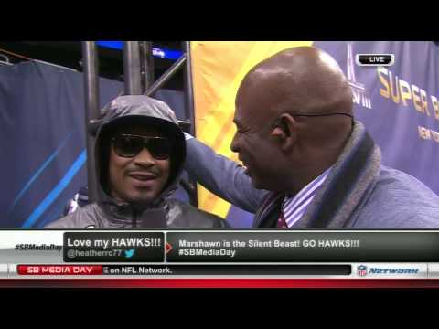Diehardsport.com: Marshawn Lynch Media Day interview w/ Deion