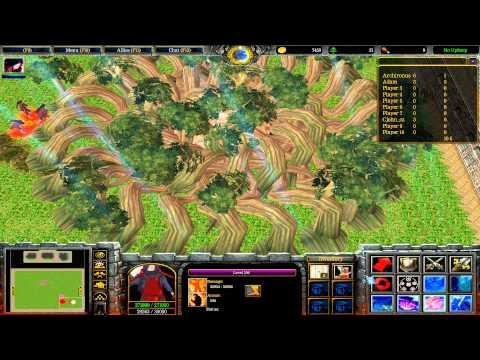 Warcraft III: TFT - Naruto Battle Royal - 37 - Madara vs Hashirama vs Minato