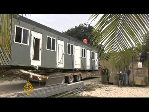 Australia prepares asylum seeker centre