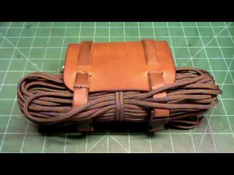 Leather survival pouch youtube for How to make a paracord utility pouch