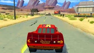 Cars 1 the Videogame 360 - No Com Episode 18 - Lightning Mcqueen VS MACK TRUCKS LOST GEAR