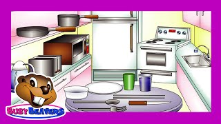 """In the Kitchen"" (Level 1 English Lesson 26) CLIP - Learn English, Kids Education, Teach ESL"