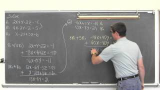 Solving 3 Variable Linear Systems Substitution / Gaussian Elimination