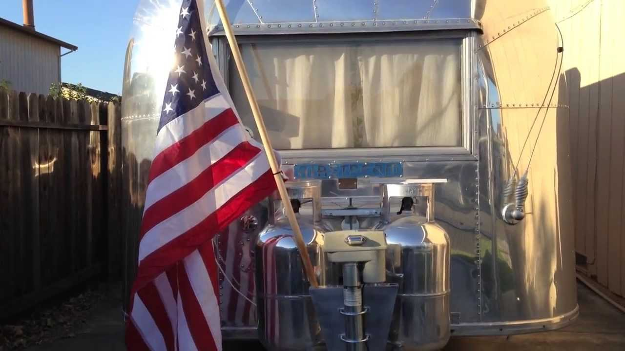 Airstream Travel Trailer >> Airstream Flag Pole Holder Install - YouTube