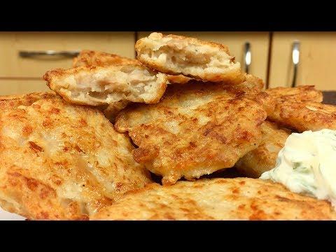 Вкуснейшие оладьи с куриным фаршем и сыром