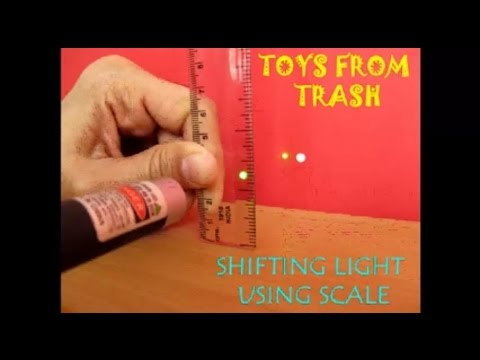 SHIFTING LIGHT USING SCALE - HINDI - Fun with laser!