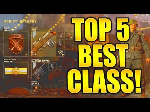 TOP 5 BEST CLASS SETUPS CALL OF DUTY WORLD WAR 2 BEST CLASSES FOR LOW LEVEL / HIGH LEVEL PLAYERS!