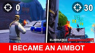 I Used Aim Trainer For 31 Days Straight - TRANSFORMATION (NOOB TO PRO) - Fortnite