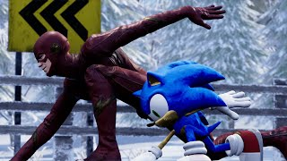 Sonic vs The Flash -  EPIC RACE!