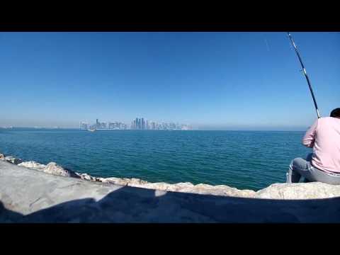 Dude fishing @ Corniche