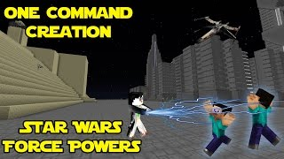 STAR WARS FORCE POWERS: One Command Block Creation: Minecraft