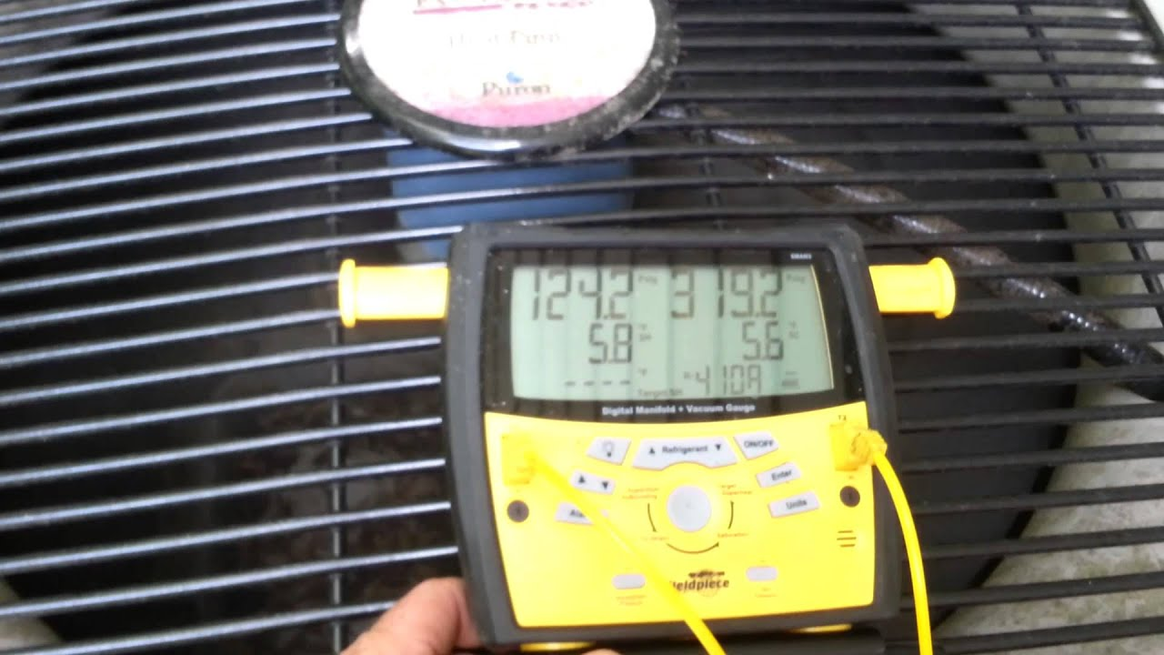 overcharged 410a Air conditioner - YouTube