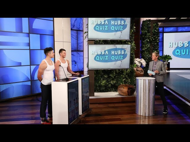 Ellens Hunks Show Off Their Uvula and Coccyx in Hubba Hubba Quiz Quiz