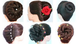 6 easy and beautiful hairstyles for party | wedding guest hairstyles | simple hairstyles | hairstyle
