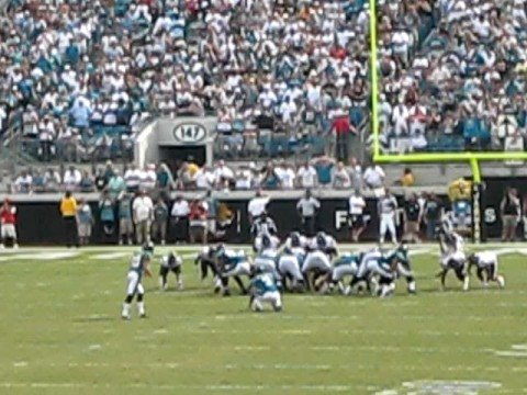 Jacksonville's Game winning field goal in OT to give them a 30-27 victory over the Houston Texans.