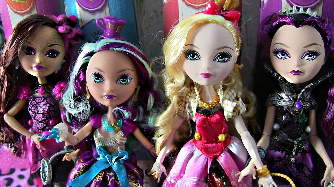 Ever after high collection review video raven madeline apple briar