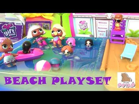 Видео для Детей. Gift Ems #Мультики Pool Party Beach Playset #мультикидлядетей КУКЛЫ LOL