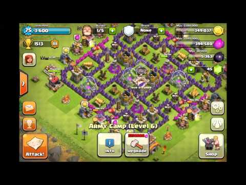 BEST Clash of Clans Defense- Town Hall 8 Farming Base + Explanation